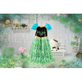 Robe verte anna la reine des neiges pour enfant achat et vente - Robe anna reine des neiges ...