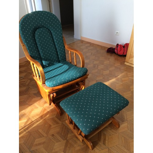 rocking chair avec repose pieds achat vente de mobilier rakuten. Black Bedroom Furniture Sets. Home Design Ideas