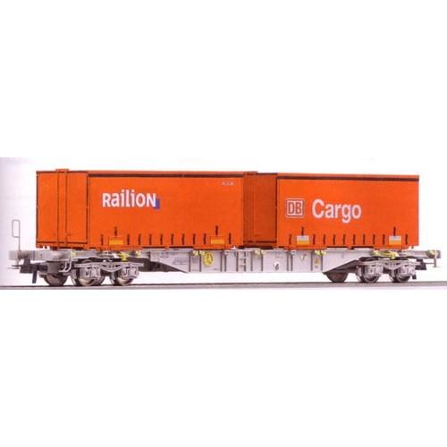 Roco 66627 wagon porte container db cargo railion 1 87 ho for Prix container vide