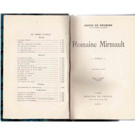 Romaine Mirmault de henri de regnier