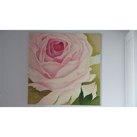 Rose Peinture A L 39 Huile Sur Toile Neuf Et D Occasion Rakuten