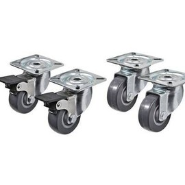 Roulettes Pivotantes 50 Mm - Lot De 4