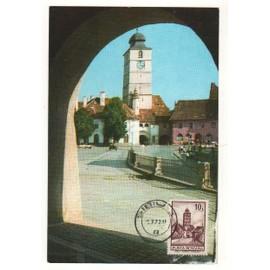 Roumanie Carte Maximum- Tour Du Conseil,Sibiu