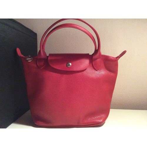 Cuir Sac Main À Pliage Rouge Longchamp xxHYFqP