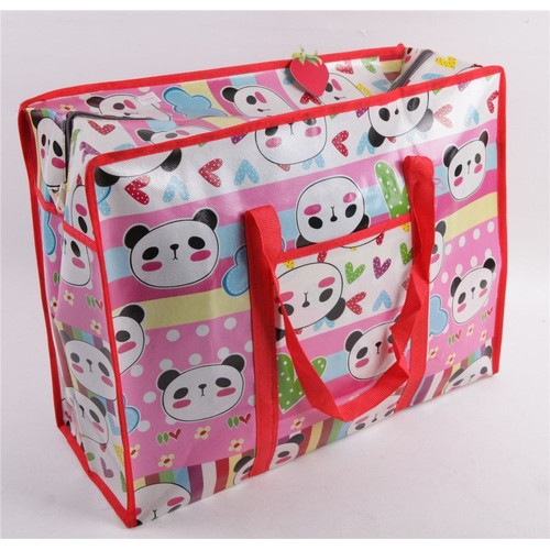 sac de voyage rangement d m nagement avec zip mignon kawaii motif animaux panda lapin grand. Black Bedroom Furniture Sets. Home Design Ideas