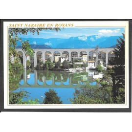 Saint Nazaire En Royans, Dr�me, Vue Partielle Et Le Pont
