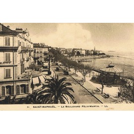 Saint rapha l var panorama du boulevard f lix martin restaurant la cigale - Restaurant boulevard saint martin ...