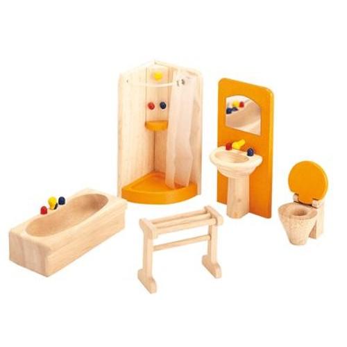 Accessoires Pour Maison De Poupees Salle De Bains En Bois Rakuten