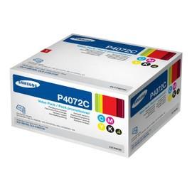 Samsung Clt-P4072c Rainbow Kit - Pack De 4 - Noir, Jaune, Cyan, Magenta - Original - Cartouche De Toner - Pour Clp-320, 320n, 325, 325w; Clx-3185, 3185fn, 3185fw, 3185n, 3185w