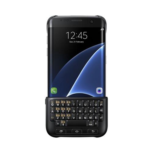 coque avec clavier qwerty pour samsung galaxy s7 edge g935f noir. Black Bedroom Furniture Sets. Home Design Ideas
