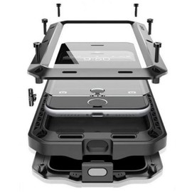 Samsung Galaxy Note 8 - Coque En Aluminium Rigide Etanche Antichoc Métallique Protection Complète 360° Anti Choc pour Note8 Luxe Verre Trempé