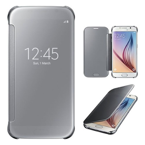 offer buy  samsung galaxy s edge clear view silver coque housse etui