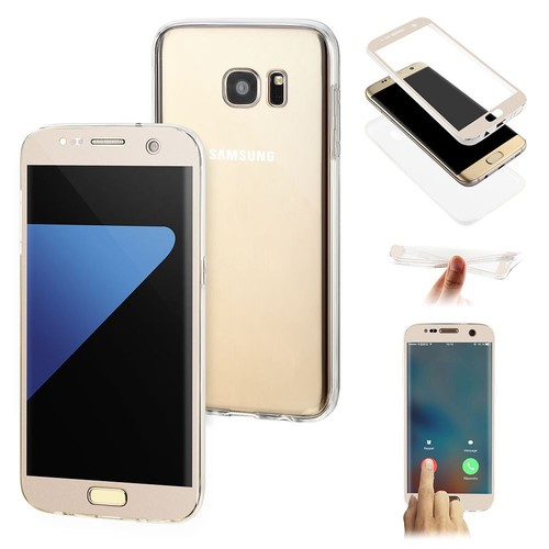 samsung galaxy s6 edge coque gel 360 protection integral couleur or invisible. Black Bedroom Furniture Sets. Home Design Ideas