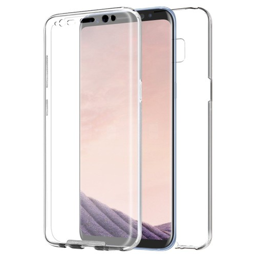 samsung galaxy s8 coque int grale 360 degr s transparent silicone. Black Bedroom Furniture Sets. Home Design Ideas