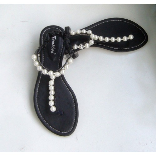 sandales tom eva 39 noir nupied tongs entredoigt a. Black Bedroom Furniture Sets. Home Design Ideas