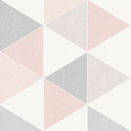 Scandi Geometrique Triangle Papier Peint Rose Gris Arthouse 908204