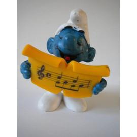 Schtroumpf Avec Partition De Musique. Smurf Schtroumpfs.