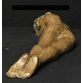 sculpture femme allong e en bronze achat et vente priceminister rakuten. Black Bedroom Furniture Sets. Home Design Ideas