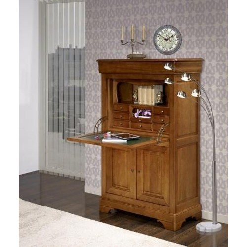 secretaire louis philippe merisier massif comme neuf. Black Bedroom Furniture Sets. Home Design Ideas