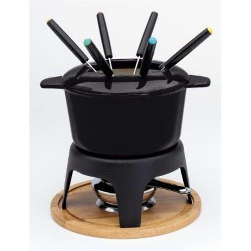 Service fondue bourguignonne caquelon noir 17cm 71747 - Appareil a fondu en fonte ...