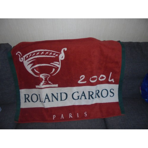 Serviette De Plage Rolland Garros 2004 Rouge - Achat et vente