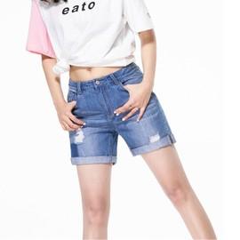 Drocbxe Fz4032 Taille Fxg Jeans En Femme Basse Casual Short 2IWEDH9