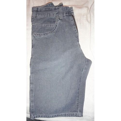 short jean bleu noir d lav taille 28 100 coton avec fermeture clair bouton 2 poches. Black Bedroom Furniture Sets. Home Design Ideas