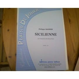 Sicilienne Philippe Sagnier Pour Saxophone Alto Et Piano
