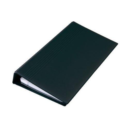 Sigel VZ300 Classeur En Plastique A Rang Avec 25 Pochettes Repertoire Z Mecanisme 4 Anneaux Pour Carte De Visite 200 Cartes 90 X 58 Mm Noir Mat
