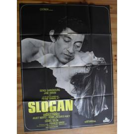 Slogan Affiche Cinema Originale Serge Gainsbourg 160x120 Cm '69