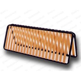 Sommier Cadre A Lattes Robuste 20 Lattes Pliable 2x80x200 Donc