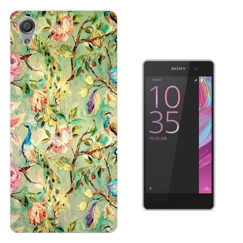 sony xperia e5 coque gel silicone protection case coque 002455 floral vintage shabby chic. Black Bedroom Furniture Sets. Home Design Ideas