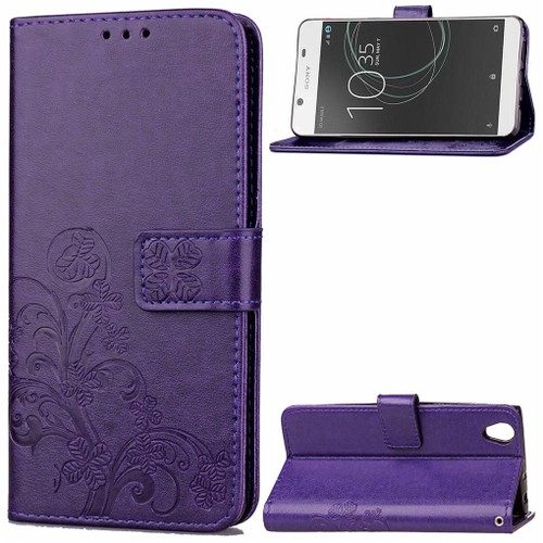 sony xperia l1 coque saturcase lucky clover pu cuir magn tique flip portefeuille support porte. Black Bedroom Furniture Sets. Home Design Ideas