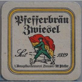 Sous Bock Bi�re Pfefferbrau Zwiesel