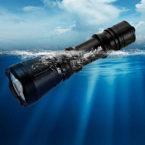 Lampe T6 Marine Torche Led Xm 80m Plongée De Puissance Haute Sous Poche L jA45LR