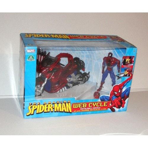spiderman moto lance missiles figurine spider man. Black Bedroom Furniture Sets. Home Design Ideas