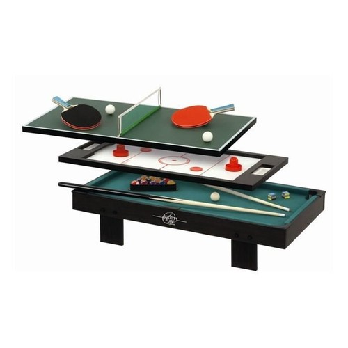 sport and fun table de jeux 3 en 1 sans pied ping pong billard palets. Black Bedroom Furniture Sets. Home Design Ideas