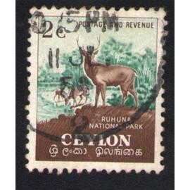 Sri Lanka 1954 Oblit�r� Rond Used Stamp Ceylan Ruhuna National Park Cerf