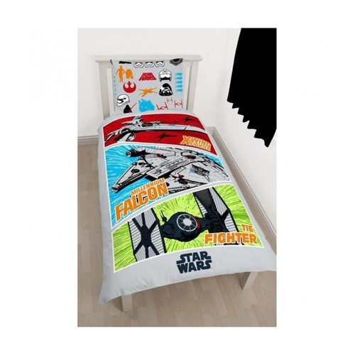 star wars parure de couette 100 coton 1 housse de couette 140x200 cm 1 taie d 39 oreiller. Black Bedroom Furniture Sets. Home Design Ideas