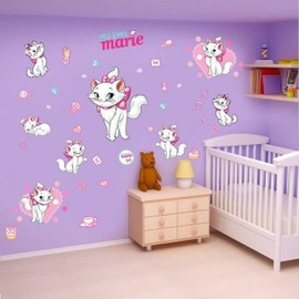 Sticker mural xl geant chat marie aristochat disney for Chambre pour nouveau marie