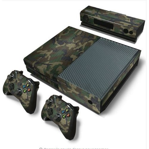 sticker skin xbox one camouflage militaire 2 manettes. Black Bedroom Furniture Sets. Home Design Ideas