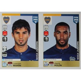 Stickers N� 76 - 77 - Leandro Mar�n - Alexis Rol�n - Argentine - Panini Fifa 365