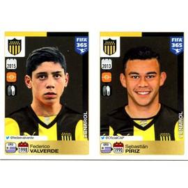 Stickers N� 830 - 831 - Federico Valverde - Sebasti�n P�riz - Penarol - Uruguay - Panini Fifa 365