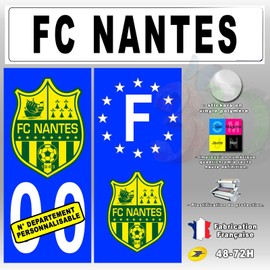 offer buy  stickers plaque d immatriculation logo fc nantes pieces n personnalisable
