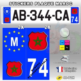 offer buy  stickers plaque d immatriculation logo maroc pieces type