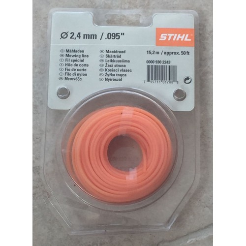 Stihl fil sp cial debroussailleuse 2 4 mm 15 2 m pas cher - Fil debroussailleuse stihl ...