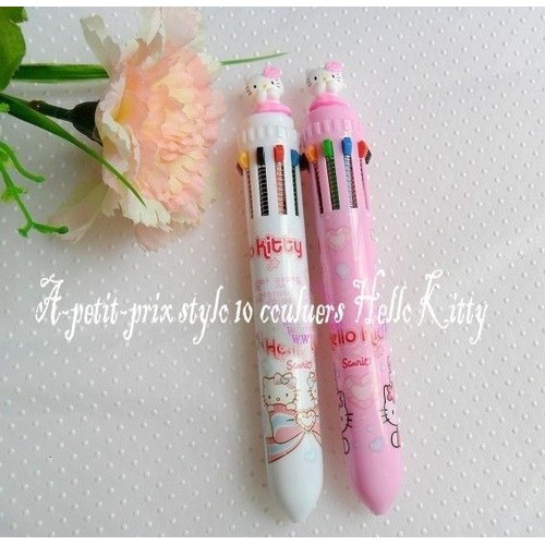 Stylos 10 couleurs hello kitty rose achat vente neuf occasion - Hello kitty couleur ...