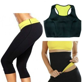 Sudation Intensive Shapers Lot Pantalon + Ceinture + Brassiere Top Bra  Pantacourt Hot Sauna Minceur Thermo Sport Neoprene 8ae8d630bc5