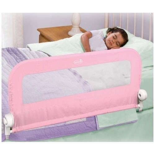 summer infant barri re de lit pliable rose pas cher. Black Bedroom Furniture Sets. Home Design Ideas