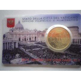 Superbe Blister Vatican Annee 2015 Piece De O,50 Cts